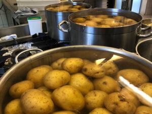 Homemade gnocchi preparation
